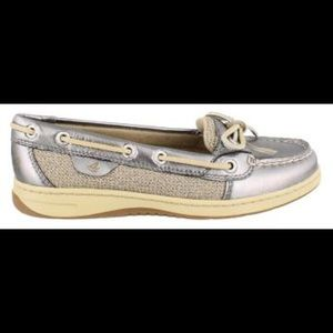 Sperry Top-Sider Angelfish Pewter Boat Shoes 8.5